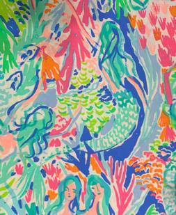 "36""x51"" Yard AUTHENTIC Fabric PB Lilly Pulitzer Mermaid"