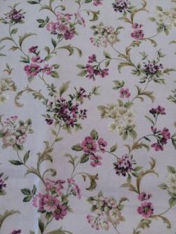 1 Yd 'Meredith' #18763 Robert Kaufman Fabric Purple Floral C