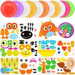 Owevvin 10 Pack Paper Plate Art Kit, Paper Plate Crafts Anim