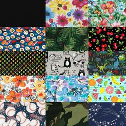 100% Cotton Fabric Solids and Florals by the Yard - DIY Home