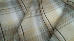 "100% Cotton Lawn Plaid fabric,  Grey/multi-color, 57"" width,"