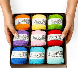 100% Pure Premium Natural Soft Cotton Yarn Collection Set fo