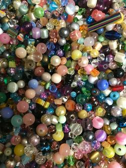~100~ Piece Assorted Glass Loose Beads Bulk Mixed Lot Craft