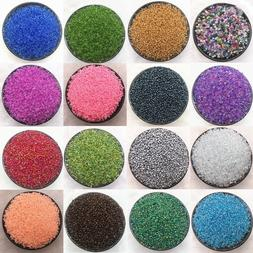 1000pcs/2/3/4mm Czech Glass Beads Seed Jewelry Spacer Loose