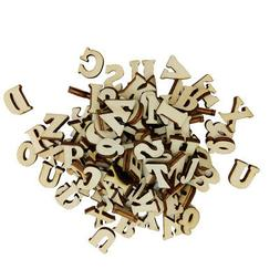 100pcs Wooden Letters A-Z Letters DIY Toys for Kids Early Le