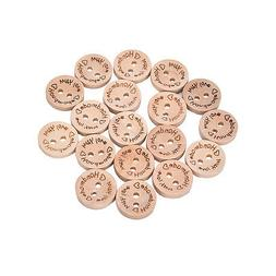 100X Handmade With Love Buttons Scrapbooking Sewing Wood But