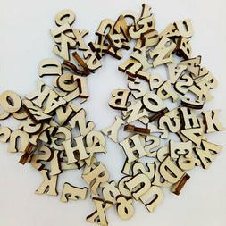 100x Wooden Letters Kids Teaching Wood Alphabet DIY Wood Cra