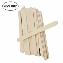 100X Wooden Popsicle Sticks Kids Hand Crafts Ice Cream Lolly