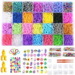 11,750+ Rainbow Rubber Loom Bands Refill Bracelet Making Meg