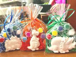 12 Dinosaurs party favors.Creative, boys Girls 2,3,4,5 years