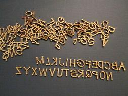 """130 Small Laser Cut Wood Letters  1/2""""  for DIY &Crafts, A-Z"""