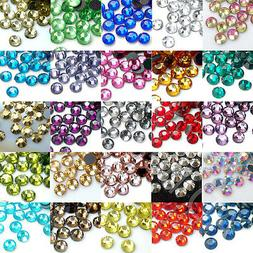 1440pcs DMC Iron On Hotfix Crystal Rhinestones Many Colors S