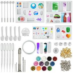 145pcs Resin Casting Silicone Molds Epoxy Spoon Kit Jewelry