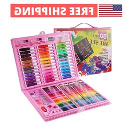 150 Pcs Art Kit Supplies for Kids Teens ANDEFINE Deluxe Draw