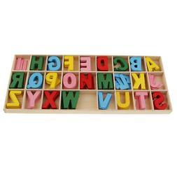 156pcs Wooden Shapes Letters Alphabet Embellishments for Kid