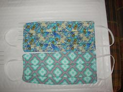 2 Homemade Mask Items For The Home-Gray-Teal-Blue-Face Cover