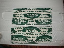 2 Homemade Mask Items -New.York. Jets Football Theme-Face Co