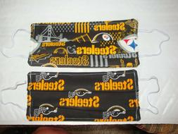 2 Homemade Masks Items  Pittsburgh  Steelers Football Theme-