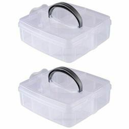 2-Pack Craft Organizer Box, Craft Storage Organizer Containe