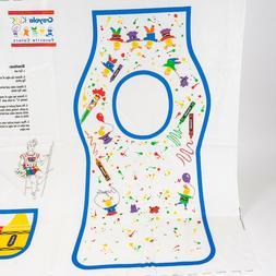 2 Vintage Wamsutta Crayola Kids DIY Apron Smock Fabric Panel