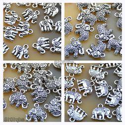 20pcs Tibetan Silver Elephant Charms Pendants Beads Fit Brac