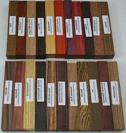 "22 Different Exotic Wood Pen Blanks ¾""x5"" Cocobolo, Zeb"
