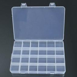 24 Compartments Plastic Box Case Craft Organizer  Jewelry Be