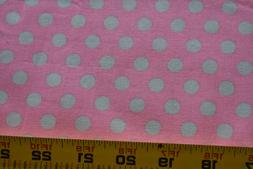 """30"""" Long, Gray Dots on Pink Quilt Fabric, Brother Sister Des"""
