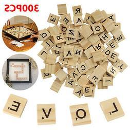 300 Scrabble Wood Tiles Pieces Full Sets 100 Letters Wooden