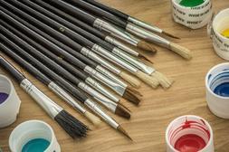 SE 30515AB Artist Brush Set with Natural Hair Bristles, 15 P