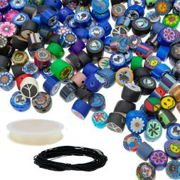 350 pcs Polymer Clay Beads for Jewelry Making Kit for Adults