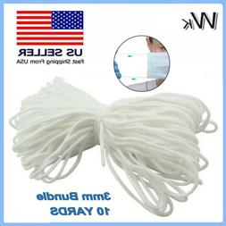 3mm  Round Elastic Band Cord Ear Hanging Sewing For DIY Mate