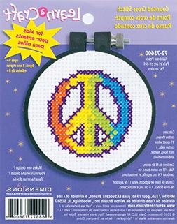Dimensions 460995 Learn-A-Craft Rainbow Peace Counted Cross