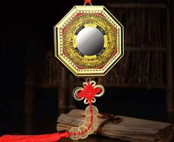 Fengshuige 5 Coin Concave Bagua Mirror For Lucky And Town Ho