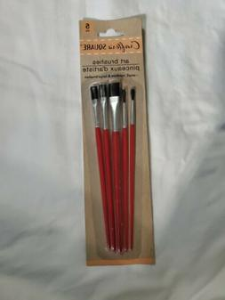 5 PC ART BRUSHES  SMALL, MEDIUM AND LARGE