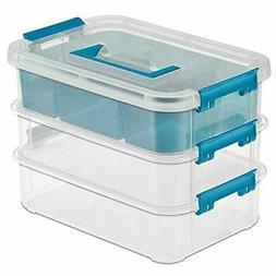 5 pc Sterilite Carry Box Storage Container Organizer, Suppli