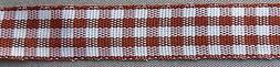 """5 Yds. BROWN GINGHAM CHECK RIBBON   1/2"""" wide"""