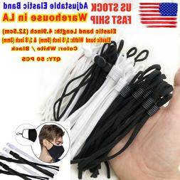 50 Pieces Sewing Elastic Band Cord with Adjustable Buckle, f