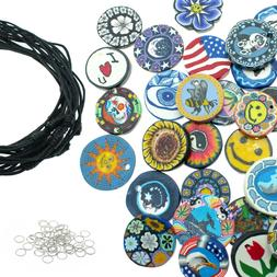 50 Polymer Clay Pendants for Jewelry Making -  DIY Craft Bea