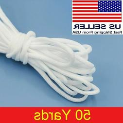"""50 yard 1/8"""" Round Elastic Band Rope Cord Ear Hanging Tape S"""