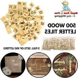 500 Wood Scrabble Tiles Scrabble Letters Wood Pieces 5 Compl