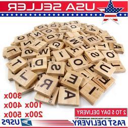 500pcs Wooden Letters Alphabet Scrabble Tiles Letters For Ga