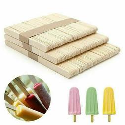 50pcs DIY Wood Popsicle Sticks Ice Cream Stick Cake Wooden C