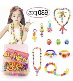 530 Pcs Pop Beads Arts and Crafts for Girls Age 3, 4, 5, 6,