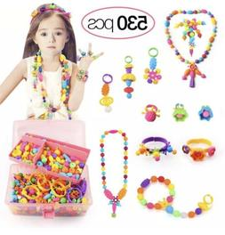 Tomons 530 Pcs Pop Beads, Arts and Crafts for Girls Age 3, 4