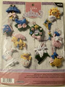 Bucilla 86757 🌷 12 Mini Easter Felt Ornaments Kit 🌷Egg