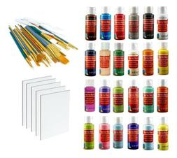 Acrylic Paint Set for Kids & Adults 24 Colors with Brushes a