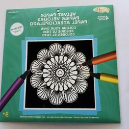 Craft Activities for Kids Velvet Paper Coloring Sheets with