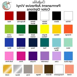 """Craftables Adhesive Vinyl Roll 12"""" x 10' Permanent Craft Out"""