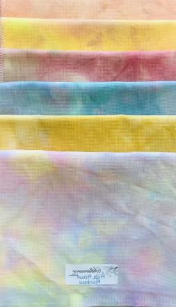 "Zweigart Aida 14 Count Hand Dyed by Silkweaver Fabrics 18"" x"